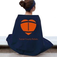 Rebels Football Blanket