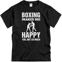 Boxing makes me happy