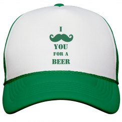 I Mustache Your for a Beer St Patricks Day