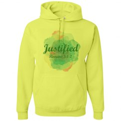 Justified - Ladies Hoodies - Romans 5:1-2
