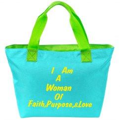 WOF Splash Zippered Tote Bag