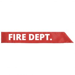 Firefighter Costume Halloween Sash
