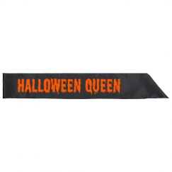 Halloween Queen Party Sash