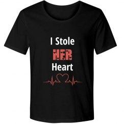 """I stole HER heart"" couple tee"