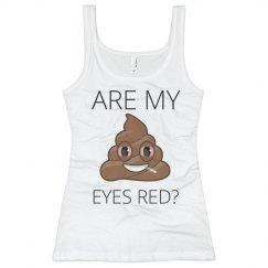 Red Eyes Poop Emoji