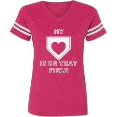 Heart on field