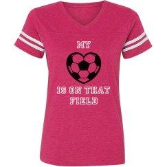 Heart on field - soccer