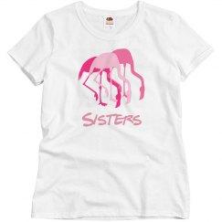 Sisters Pink Flamingos