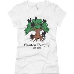 Custom family tree shirt