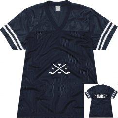 Personalize hockey jersey