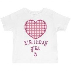 Birthday girl is 3