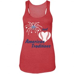 Baseball 4th of July Tank