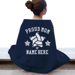 Proud Volleyball Mom Blanket