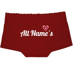 Custom Name Sexy Heart Lace Undies
