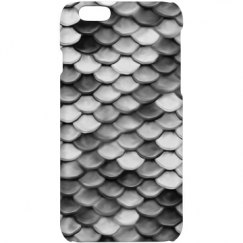Mermaid Scale Pattern Black and White