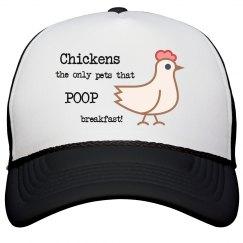 Chickens Poop Breakfast