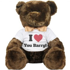 I love you Barry Valentine Bear