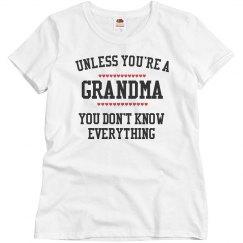 Grandma know everything