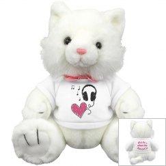Music Heart Kitty Cat