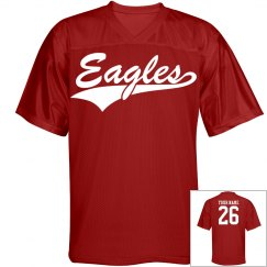Eagles custom name and number sports jersey
