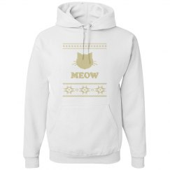 Gold Kitty Holiday Hoodie