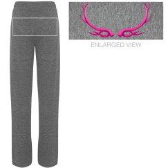 Hot Pink Antler Sweats