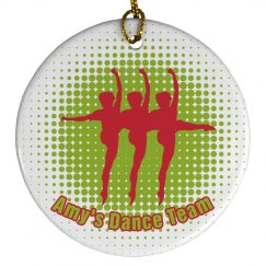 Dance Team Ornaments Xmas