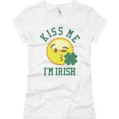 Irish Kiss Me Emoji