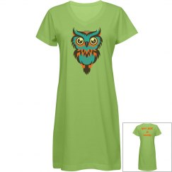Your are a Hoot, Turquoise Owl