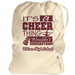High School Cheer Bag With Custom School Name