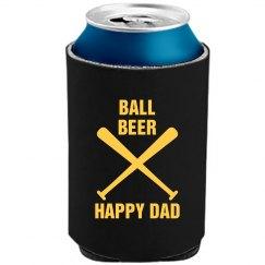 Ball Beer Happy Dad