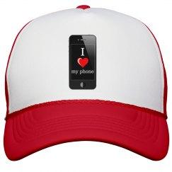 Love My Phone Peak Cap
