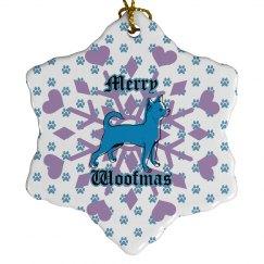 Merry Woofmas snowflake