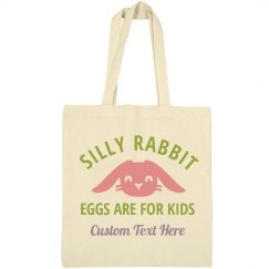Eggs For Kids Custom Easter Tote