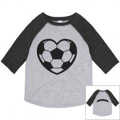 Football heart Tee