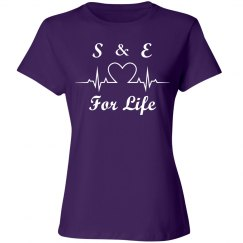 Love 4 Life Initials - Purple