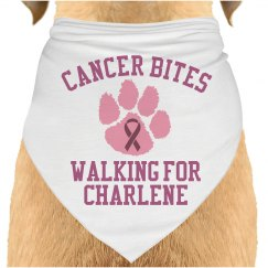 Cancer Walk Dog Bandana