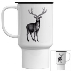 Deer sketch travel mug