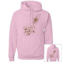 #1- pink paint splash Hoodie