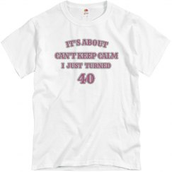 it's about being 40