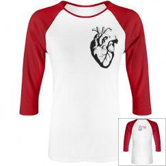 Science Tots Heart Womens