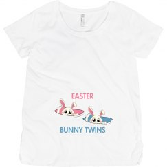 Easter Bunny Twins maternity top