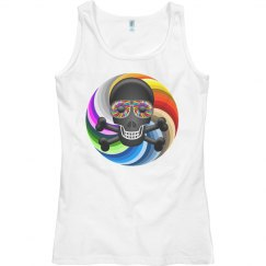 Rainbow Sugar Skull
