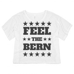 Feel The Bern USA Crop Top