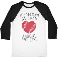 The second baseman caught my heart