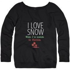 I love snow sweater