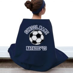 Soccer Player Fan Blanket for Soccer Mom or Player