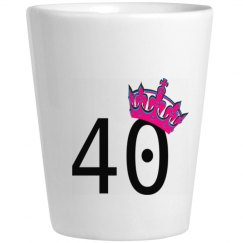 Princess 40 Shot Glass