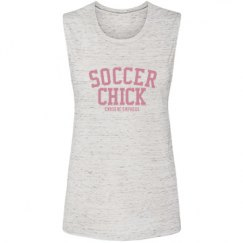 Soccer Chick Muscle Tee