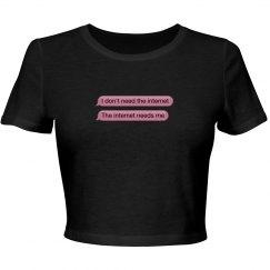 Internet Pink Crop Top